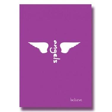 Deffter  Angels Belıeve Sert Kapak Defter Çizgisiz  Renkli